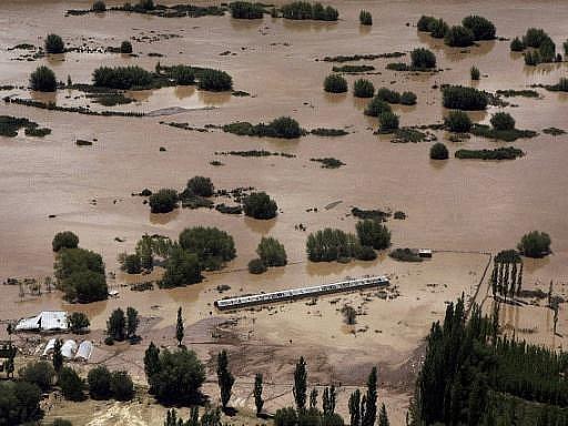 Ilustrační fotografie, záplavy v Indii.