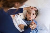 Nemocné dítě - Ilustrační foto