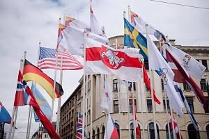 Sport o vlajky v Rize.