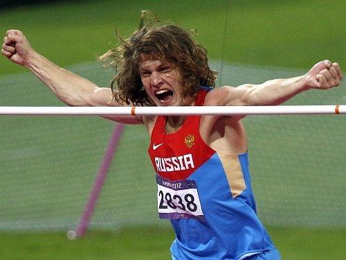 Olympijský vítěz ve skoku vysokém Ivan Uchov.