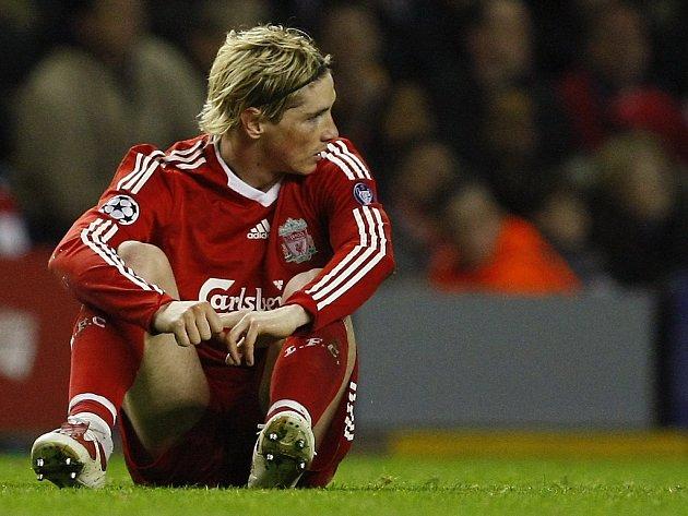 Liverpoolský kanonýr Fernando Torres.
