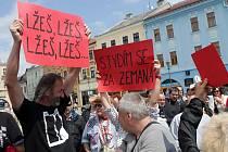 V Hranicích zažil prezident i protesty.