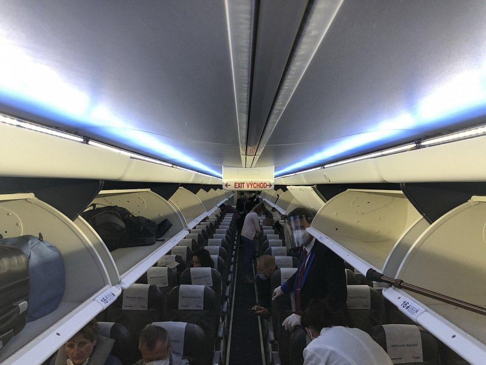 Zájem o zájezdy je velký. To potvrzuje také obsazenost letadla společnosti SmartWings, kde prakticky není jediné volné místo.