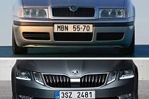 První a třetí generace Škody Octavia.