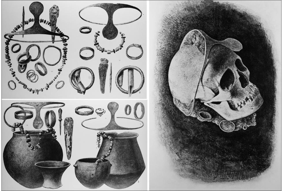 Stříbrné diadémy a další pohřební artefakty z lokality La Almoloya