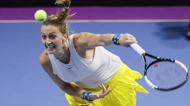 Česká tenistka Petra Kvitová na turnaji v Petrohradu