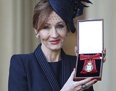Oceněná spisovatelka J. K. Rowlingová