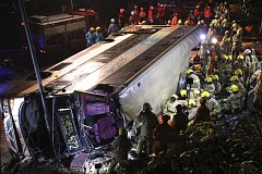 Tragická nehoda autobusu v Hongkongu