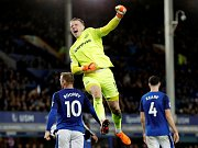 Jordan Pickford v dresu Evertonu