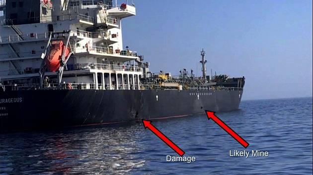 Poškozený tanker