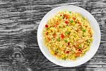 Krémové rizoto s hráškem a kukuřicí