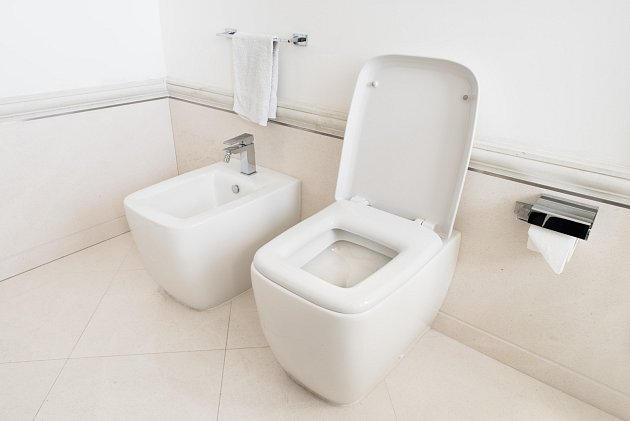 Stále oblíbenější je instalace toalety a bidetu. Počítejte však stím, že potřebují daleko více místa než samostatné WC.