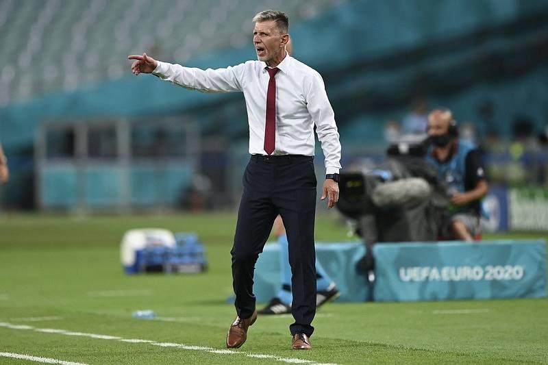 Trenér Jaroslav Šilhavý během čtvrtfinále Eura proti Dánsku.