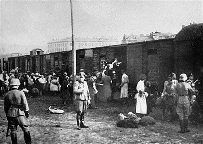 Grossaktion Warschau - vyklízení varšavského ghetta a transport do koncentračních táborů v roce 1942