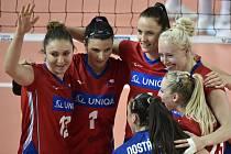 Hráčky Česka se radují.