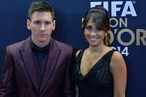 Lionel Messi a jeho přítelkyně