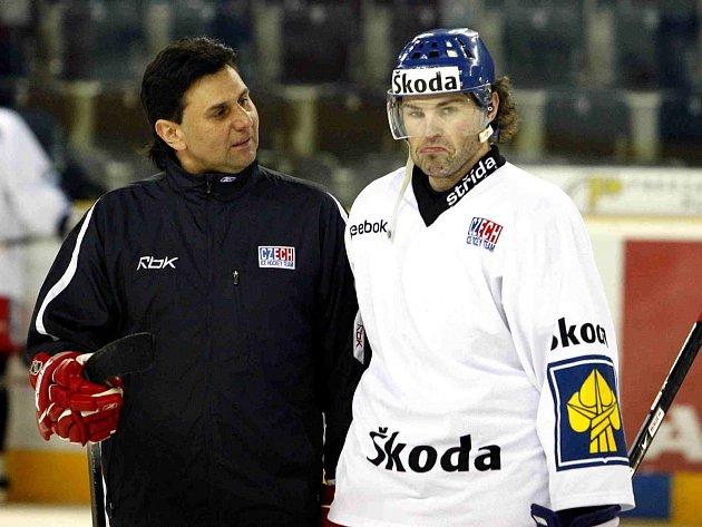 Vladimír Růžička a Jaromír Jágr
