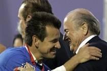 Dunga a Sepp Blatter po finále Copa América