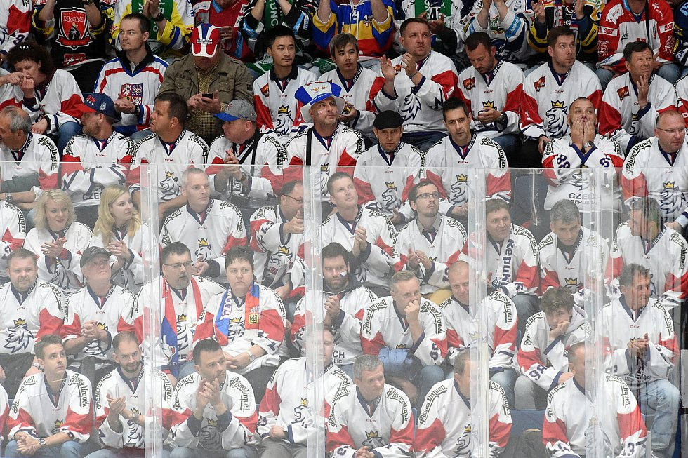 Brno 10.5.2019 - zahajovací utkání českých reprezentantů se Švédskem ve skupině B na MS 2019 v Bratislavě.