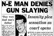 Tisk věnoval objasňování případu velkou pozornost, na snímku tvář zastřeleného muže Thomase Guyana