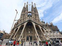Chrám Sagrada Familia v Barceloně