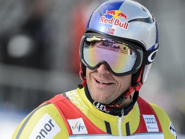 Aksel Lund Svindal získal malý glóbus za sjezd SP.