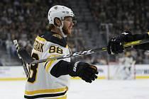 Hokejista Bostonu Bruins David Pastrňák se raduje ze svého gólu