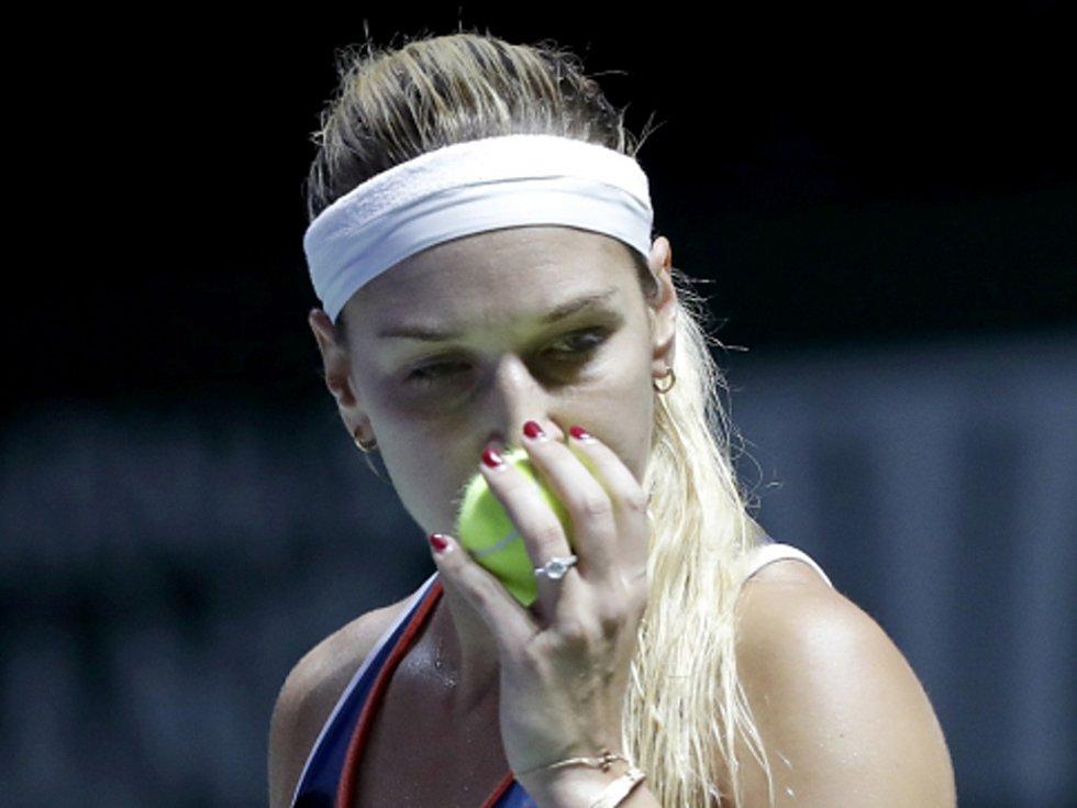 Dominika Cibulková ve finále Turnaje mistryň.