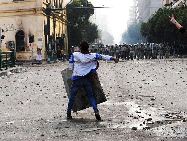 Nepokoje v egyptské Káhiře.