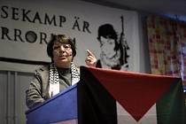 Leila Khaledová na loňské konferenci ve Švédsku
