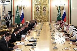 Setkání představitelů Ruska a Saúdské Arábie