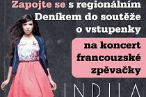 Zapojte se s regionálním Deníkem do soutěže o vstupenky na koncert francouzské zpěvačky INDILY.
