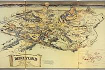 Mapa Disneylandu