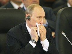 Ruský prezident Vladimir Putin na summitu NATO - Rusko.