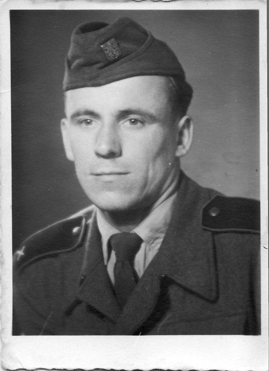 Rudolf Hadwiger na vojně v letech 1954-56.