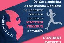 Pojďte si zaběhat na podzimní běžeckou roadshow MATTONI FREERUN.
