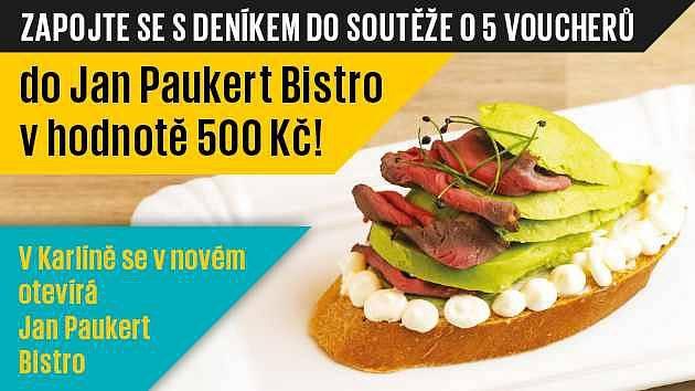 Zapojte se sDeníkem do soutěže o  5  voucherů do Jan Paukert Bistro vhodnotě 500 Kč