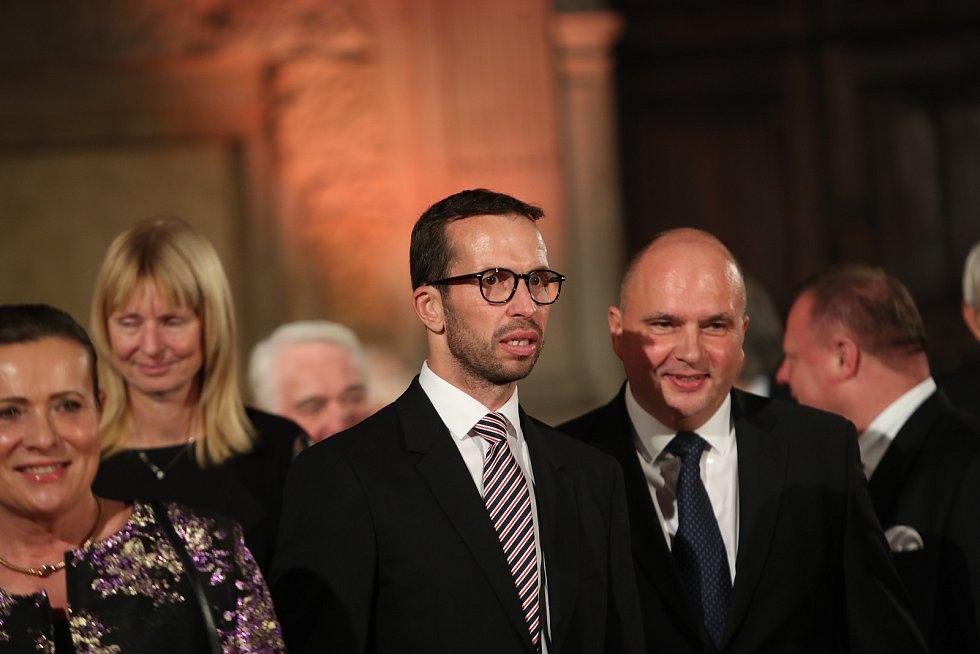 Slavnostní ceremoniál udílení státních vyznamenání. Tenista Radek Štěpánek.
