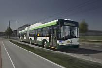 Trolejbus společnosti Škoda Electric.