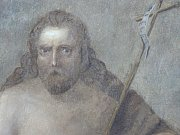 Freska znázorňující sv. Jana Křtitele na hradě Valdštejn, v níž někteří rozpoznali Máchovu podobu.