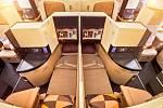 Interiér Airbusu A380 společnosti Etihad