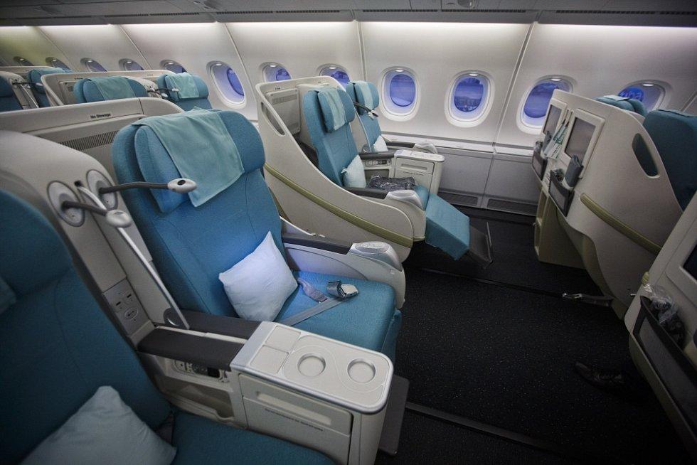 Na Letiště Václava Havla Praha přístálo 14. března největší dopravní letadlo světa Airbus A380 Korean Air. První třída