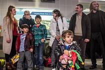 Skupina prvních křesťanských uprchlíků z Iráku přiletěla 24. ledna do Prahy.