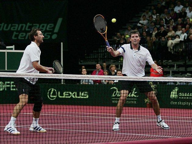Duo Mečíř (vlevo) - Novák v akci.