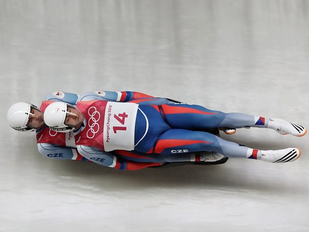 Lukáš a Antonín Brožovi na olympijské trati