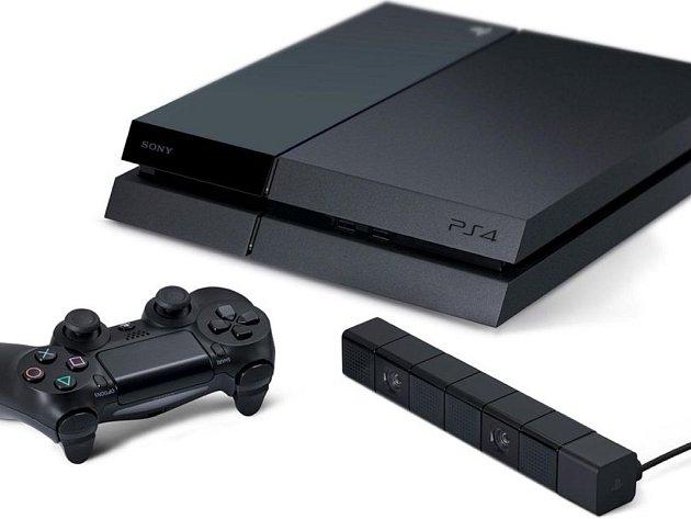 Herní konzole PlayStation 4.