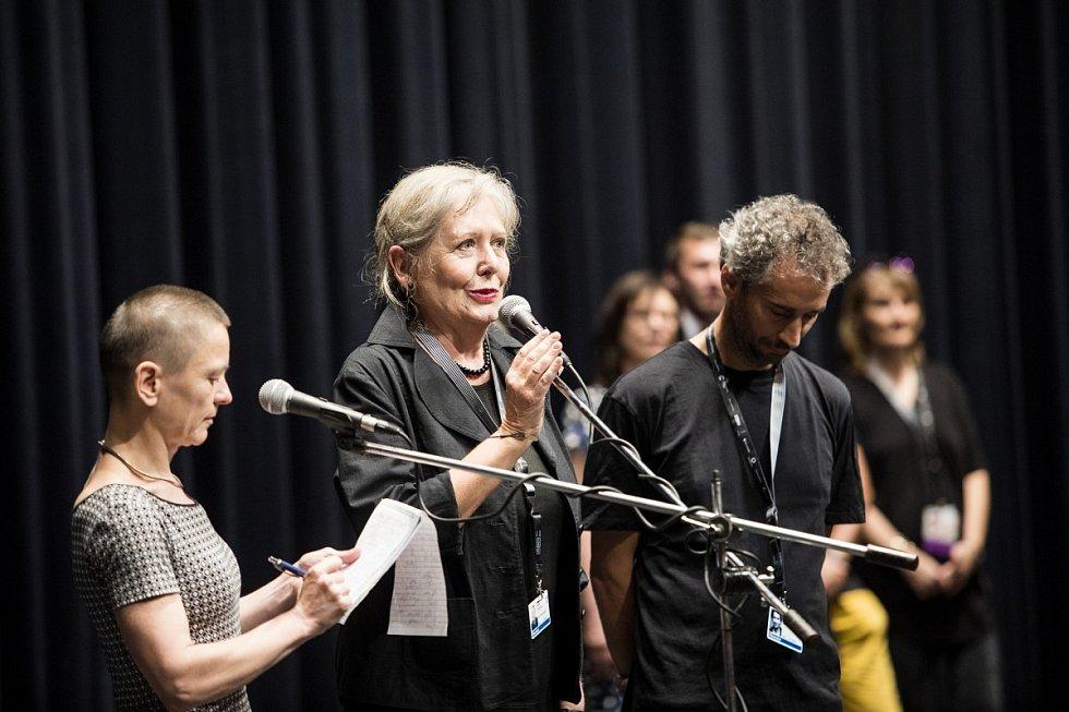 Helena Třeštíková a Jakub Hejna na festivalu v Karlových Varech
