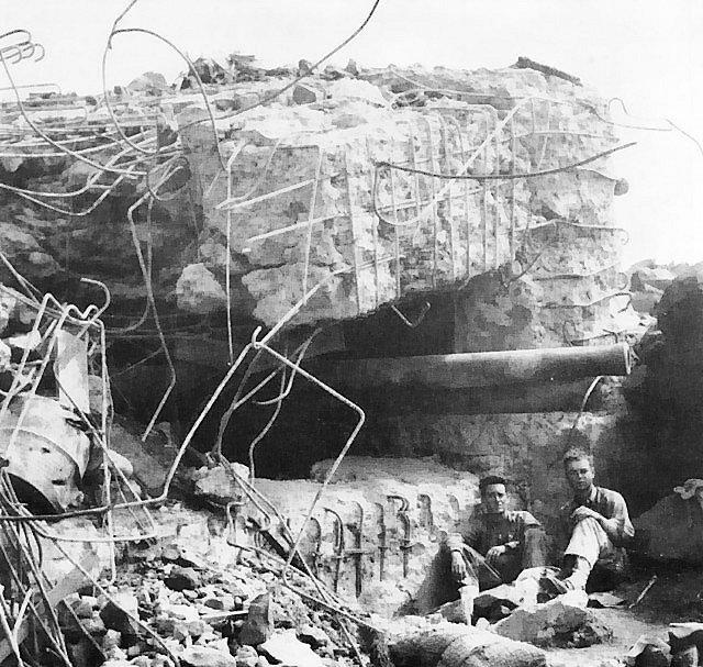 Japonské dělostřelecké postavení