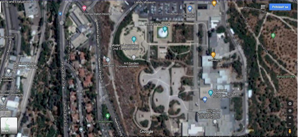 Google Maps nabízí pouze nekvalitní satelitní snímky nejen Pásma Gazy, ale i všech měst v Izraeli. Dlouhá léta to společnosti přikazoval americký zákon. Ten vznikl s ohledem na otázky bezpečnosti židovského státu. Na snímku Jeruzalém.