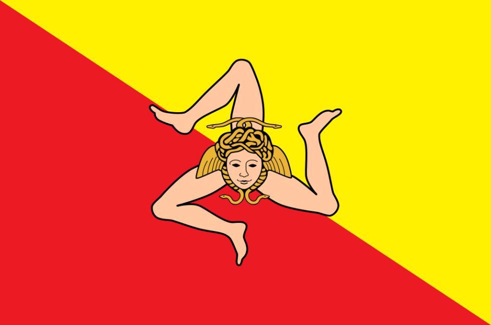 Vlajka Sicílie